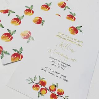 Peachy Baby Invitation