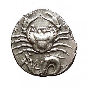 Cancer Crab on Greek Coin