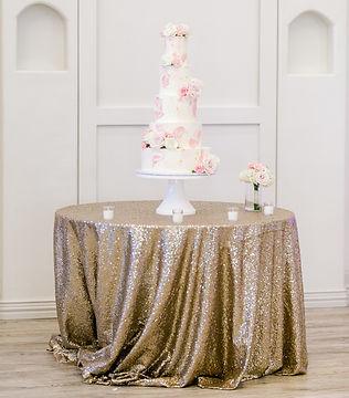 Champagne glitz sequin tablecloth runner