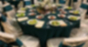 Hunter green polyester tablecloths ivory