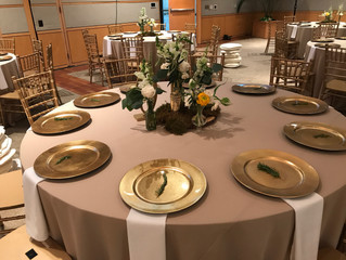 Elegant Champagne Linens for Your Dallas Wedding