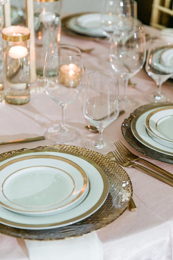 blush shantung tablecloth napkin sash ru