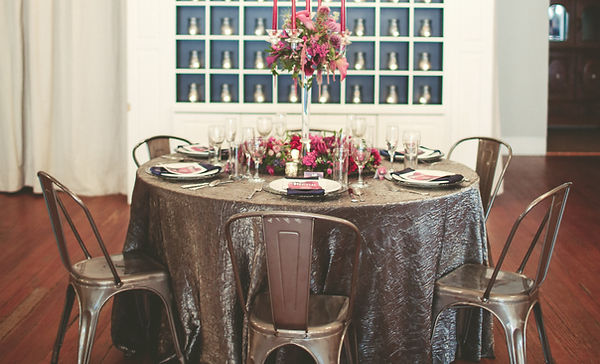 Am Linen Rental Black And Silver Tablecloth Inspiration
