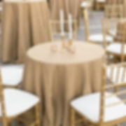 Eggplant Lamour Tablecloth and Ivory Napkins