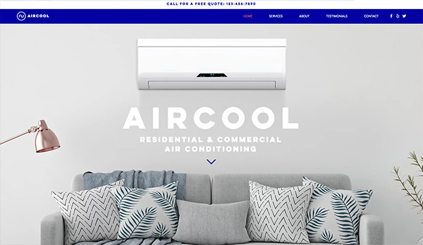 서비스 관리 website templates – A/C Technician