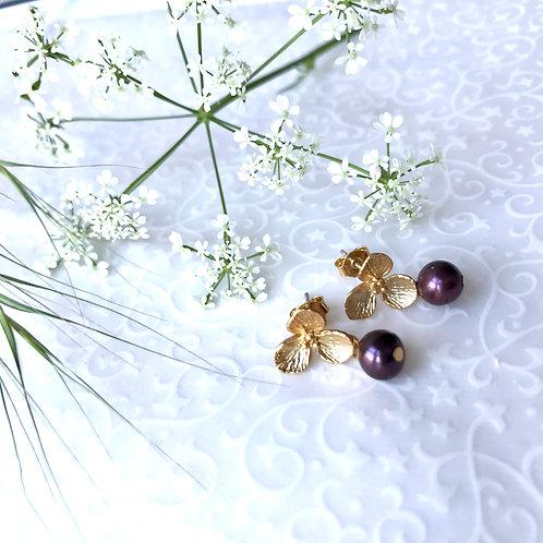 fleurs boucles d'oreilles