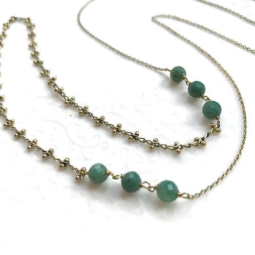 sautoir collier long jade