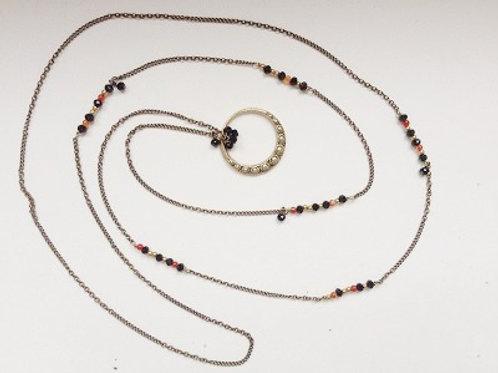 sautoir fin pendentif fin chaine laiton bijoux