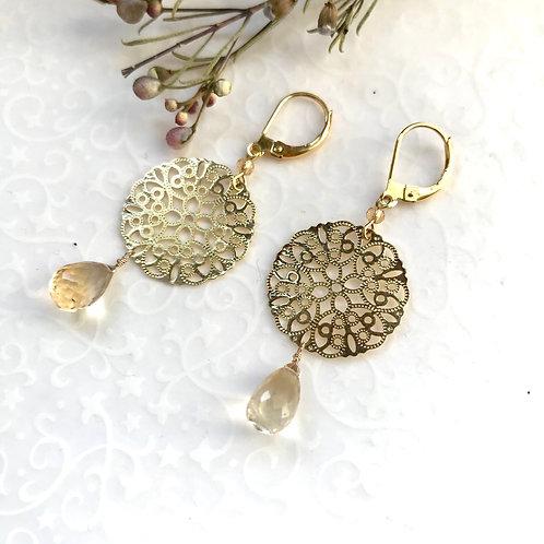 earrings citrine geneva