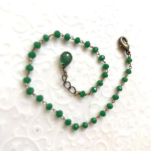 Bracelet vert strass geneve