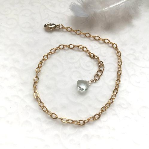 aigue marine bracelet femme