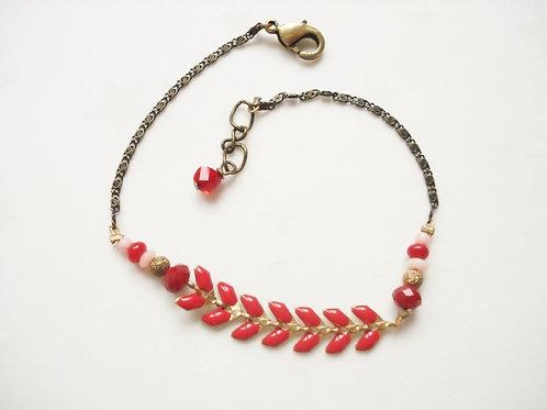 bracelet fin geneve rouge émaillé