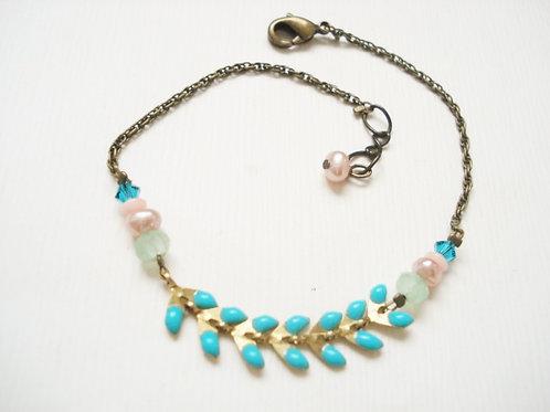 bracelet fin geneve turquoise