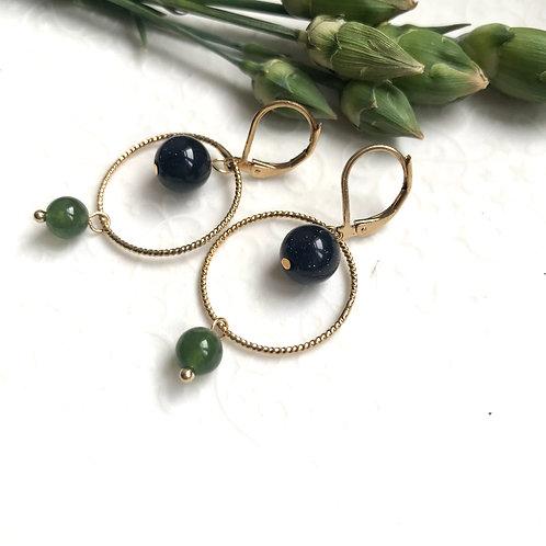 BO basics anneaux ciselés et pierres semi-précieuses