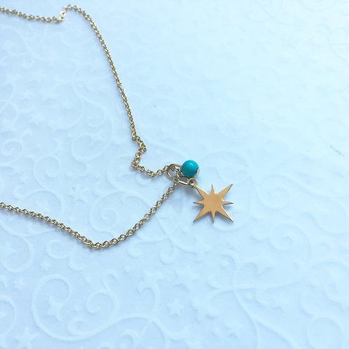 pendentif étoile chaine fine plaqué or