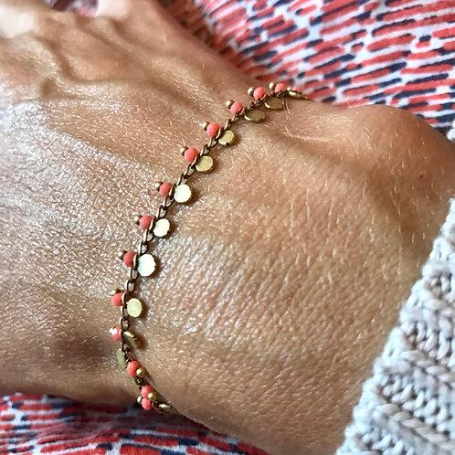 bracelet fin rose