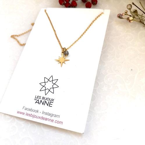 petit collier étoile plaqué or