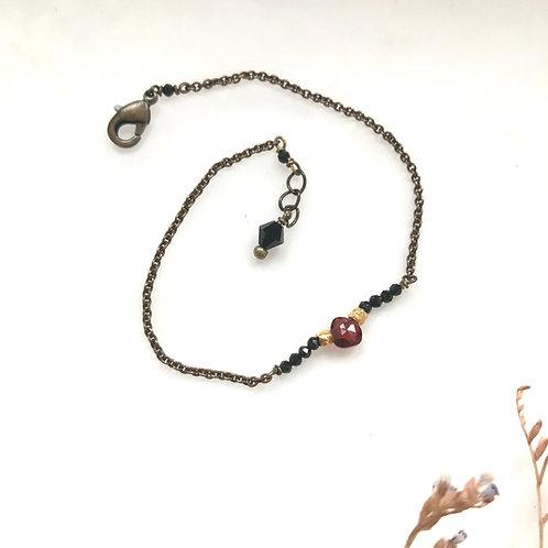 bracelet grenat et spinelles