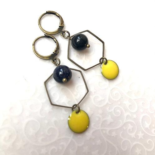earrings basic yellow