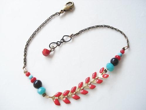 bracelet fin genève rouge