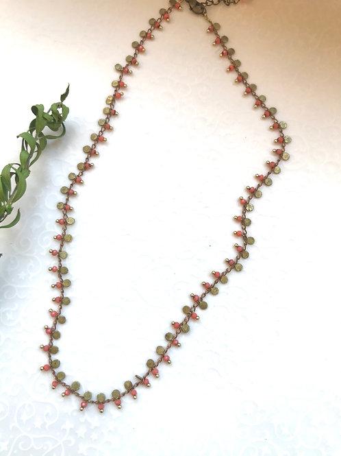 collier fin rosé corail geneve