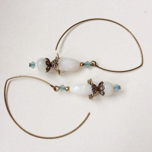 boucles d'oreilles blanches nacres geneve suisse