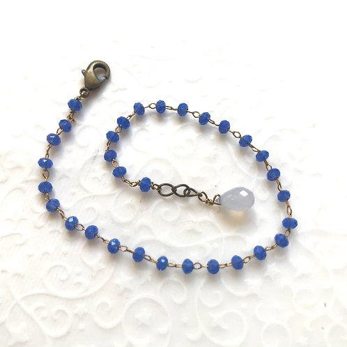 bracelet bleu lavande