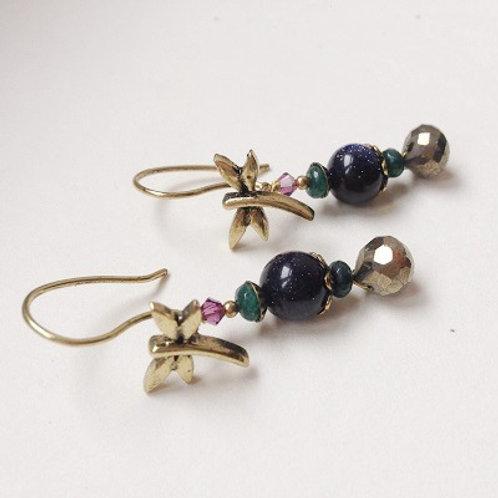 boucles d'oreilles libellule bijoux genève