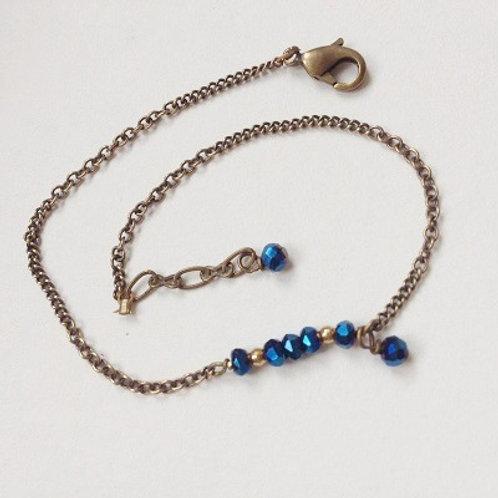 bracelet fin geneve bleu