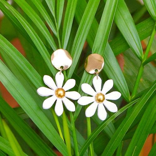 Marguerites blanches et dorées