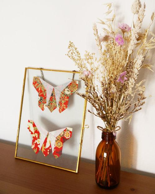 Papillons japonais rouges
