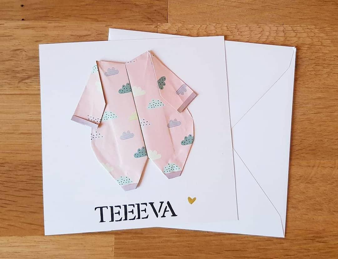 Carte de naissance pour une petite Teeeva