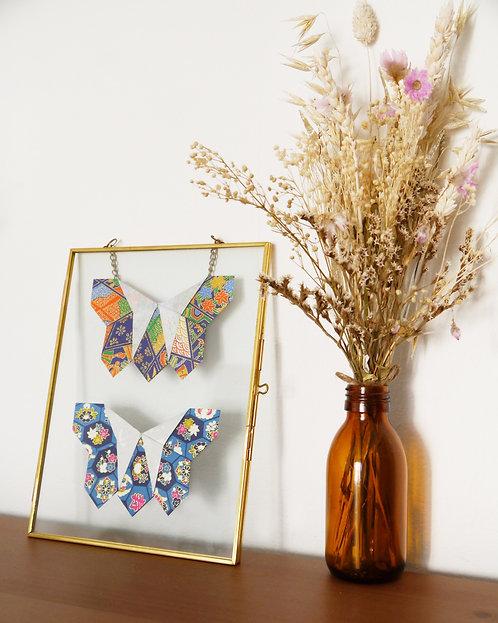 Papillons japonais bleus