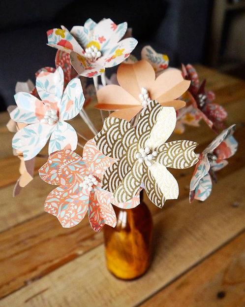 Bouquet fleurs de cerisiers - Pêche