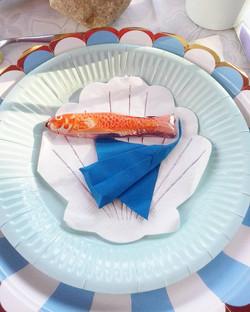 Décoration de table - Raies manta