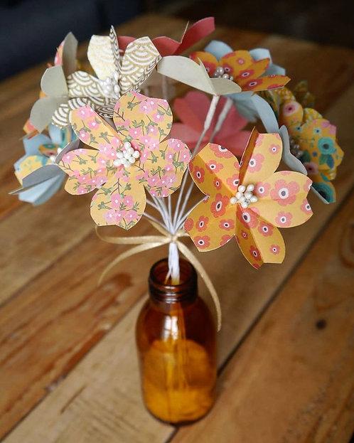 Bouquets fleurs de cerisiers - Jaune moutarde