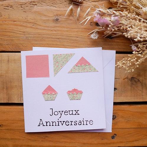 Cupcake d'anniversaire - Vert pastel