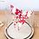 Thumbnail: Papillon japonais rouge/doré sous cloche