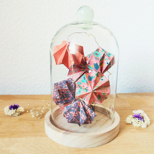 Guirlande lumineuse de diamants sous cloche - Terracotta