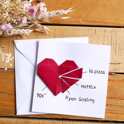 Carte St-Valentin personnalisable