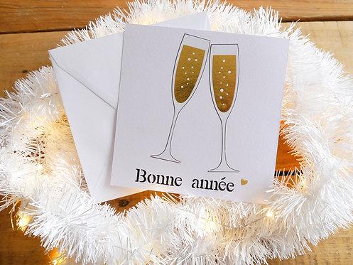 Carte flûtes de Champagne