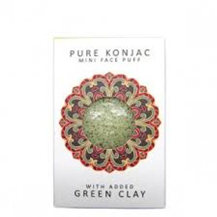 Konjac spons Mini Sponge Gift Box Green Clay