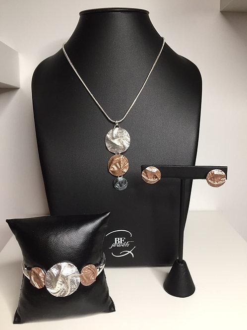juwelenset met hanger, armband en oorbellen