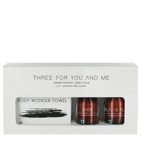 RainPharma Three For You And Me - Body Wonder Towel - Sage + Ylang Ylang 100 Ml