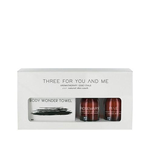 RainPharma Three For You And Me - Body Wonder Towel - Rosemary + Pine 100 Ml