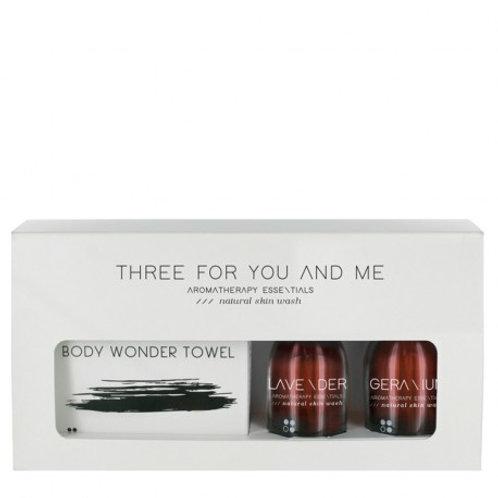 RainPharma Three For You And Me - Body Wonder Towel - Lavender + Geranium 100 Ml