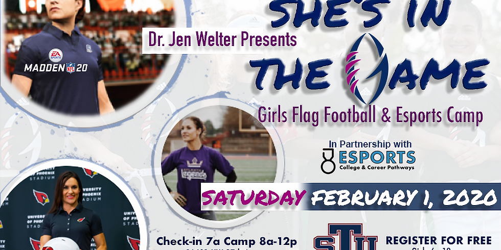 Coach Jen Welters She's In The Game Flag Football and Esports Camp