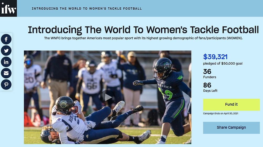 Introducing the World to Women's Tackle Football