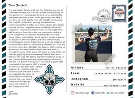 Dear Football by Jessica Marquez of La Muerte de Las Cruces