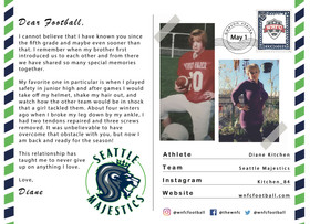 Dear Football by Diane Kitchen of the Seattle Majestics